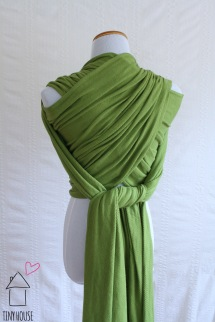 Didymos Lisca Natural, solid dyed green